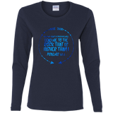 "Bible Verse Ladies' Cotton Long Sleeve T-Shirt - ""Psalm 61-2"" Design 8 - Meditate Healing Christian Store"