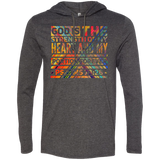 "Bible Verse Men Long Sleeve T-Shirt Hoodie - ""Psalm 73:26"" Design 5 - Meditate Healing Christian Store"