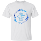 "Bible Verse Men 5.3 oz. T-Shirt - ""Psalm 61:2"" Design 19 - Meditate Healing Christian Store"