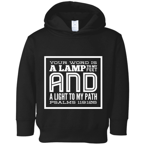 "Bible Verse Toddler Fleece Hoodie - ""Psalm 119:105"" Design 12 - Meditate Healing Christian Store"