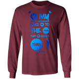 "Bible Verse Long Sleeve Ultra Cotton T-Shirt - ""Psalm 61:2"" Design 9 - Meditate Healing Christian Store"