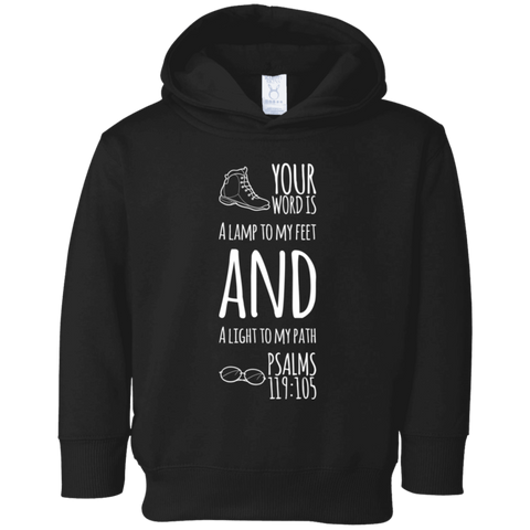 "Bible Verse Toddler Fleece Hoodie - ""Psalm 119:105"" Design 20 - Meditate Healing Christian Store"