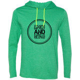 "Bible Verse Men Long Sleeve T-Shirt Hoodie - ""Psalm 119:105"" Design 8 (Black Font) - Meditate Healing Christian Store"