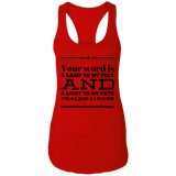 "Bible Verses Ladies Ideal Racerback Tank - ""Psalm 119:105"" Design 10 (Black Font) - Meditate Healing Christian Store"