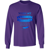 "Bible Verse Long Sleeve Ultra Cotton T-Shirt - ""Psalm 61-2"" Design 13 - Meditate Healing Christian Store"