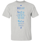 "Bible Verse Men 5.3 oz. T-Shirt - ""Psalm 61:2"" Design 3 - Meditate Healing Christian Store"