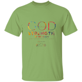"Bible Verse Men 5.3 oz. T-Shirt - ""Psalm 73:26"" Design 17 - Meditate Healing Christian Store"
