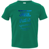 "Bible Verse Toddler Jersey T-Shirt - ""Psalms 61:2"" Design 18 - Meditate Healing Christian Store"