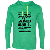 "Bible Verse Men Long Sleeve T-Shirt Hoodie - ""Psalm 119:105"" Design 15 (Black Font) - Meditate Healing Christian Store"