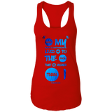 "Bible Verses Ladies Ideal Racerback Tank - ""Psalm 61:2"" Design 9 - Meditate Healing Christian Store"
