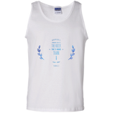 "Bible Verse Men 100% Cotton Tank Top - ""Psalm 61:2"" Design 10 - Meditate Healing Christian Store"