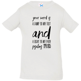 "Bible Verse Infant Jersey T-Shirt - ""Psalm 119:105"" Design 9 (Black Font) - Meditate Healing Christian Store"