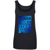 "Bible Verses Ladies' 100% Ringspun Cotton Tank Top - ""Psalm 61:2"" Design 20 - Meditate Healing Christian Store"