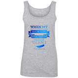 "Bible Verses Ladies' 100% Ringspun Cotton Tank Top - ""Psalm 61:2"" Design 13 - Meditate Healing Christian Store"