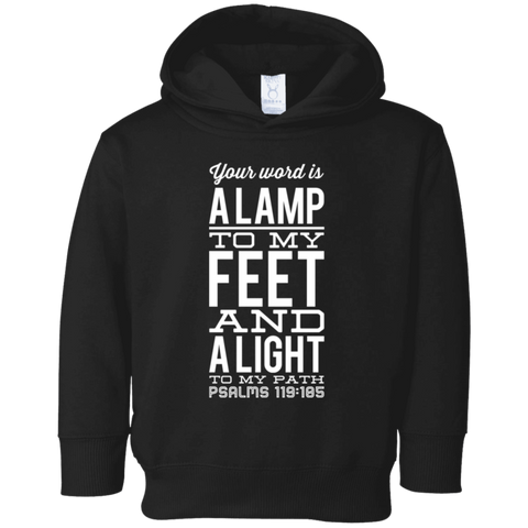 "Bible Verse Toddler Fleece Hoodie - ""Psalm 119:105"" Design 4 - Meditate Healing Christian Store"