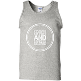 "Bible Verse Men 100% Cotton Tank Top - ""Psalm 119:105"" Design 8 (White Font) - Meditate Healing Christian Store"