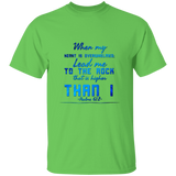"Bible Verse Men 5.3 oz. T-Shirt - ""Psalm 61:2"" Design 6 - Meditate Healing Christian Store"