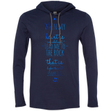 "Bible Verse Men Long Sleeve T-Shirt Hoodie - ""Psalm 61:2"" Design 3 - Meditate Healing Christian Store"