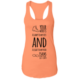 "Bible Verses Ladies Ideal Racerback Tank - ""Psalm 119:105"" Design 20 (Black Font) - Meditate Healing Christian Store"