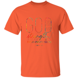 "Bible Verse Men 5.3 oz. T-Shirt - ""Psalm 73:26"" Design 18 - Meditate Healing Christian Store"