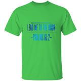 "Bible Verse Men 5.3 oz. T-Shirt - ""Psalm 61:2"" Design 4 - Meditate Healing Christian Store"