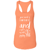 "Bible Verse Ladies Ideal Racerback Tank - ""Psalm 119:105"" Design 18 (White Font) - Meditate Healing Christian Store"