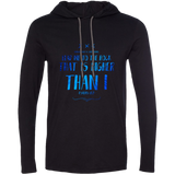 "Bible Verse Men Long Sleeve T-Shirt Hoodie - ""Psalm 61:2"" Design 11 - Meditate Healing Christian Store"