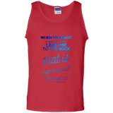"Bible Verse Men 100% Cotton Tank Top - ""Psalm 61:2"" Design 18 - Meditate Healing Christian Store"