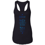 "Bible Verses Ladies Ideal Racerback Tank - ""Psalm 61:2"" Design 3 - Meditate Healing Christian Store"