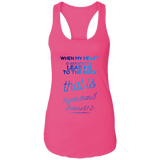 "Bible Verses Ladies Ideal Racerback Tank - ""Psalm 61:2"" Design 18 - Meditate Healing Christian Store"