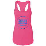 "Bible Verses Ladies Ideal Racerback Tank - ""Psalm 61:2"" Design 8 - Meditate Healing Christian Store"