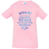 "Bible Verse Infant Jersey T-Shirt - ""Psalm 61:2"" Design 17 - Meditate Healing Christian Store"