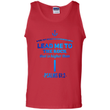 "Bible Verse Men 100% Cotton Tank Top - ""Psalm 61:2"" Design 1 - Meditate Healing Christian Store"