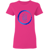 "Bible Verses Ladies' 5.3 oz. T-Shirt - ""Psalm 61:2"" Design 15 - Meditate Healing Christian Store"