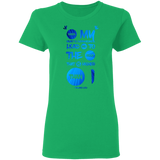 "Bible Verses Ladies' 5.3 oz. T-Shirt - ""Psalm 61:2"" Design 9 - Meditate Healing Christian Store"