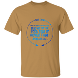 "Bible Verse Men 5.3 oz. T-Shirt - ""Psalm 61:2"" Design 8 - Meditate Healing Christian Store"