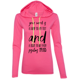 "Bible Verse Ladies' Long Sleeve T-Shirt Hoodie - ""Psalm 119:105"" Design 9 (Black Font) - Meditate Healing Christian Store"
