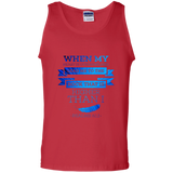 "Bible Verse Men 100% Cotton Tank Top - ""Psalm 61:2"" Design 13 - Meditate Healing Christian Store"