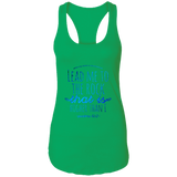 "Bible Verses Ladies Ideal Racerback Tank - ""Psalm 61:2"" Design 7 - Meditate Healing Christian Store"