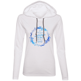 "Bible Verse Ladies' Long Sleeve T-Shirt Hoodie - ""Psalm 61:2"" Design 19 - Meditate Healing Christian Store"