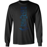 "Bible Verse Long Sleeve Ultra Cotton T-Shirt - ""Psalm 61:2"" Design 2 - Meditate Healing Christian Store"