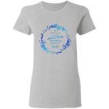 "Bible Verses Ladies' 5.3 oz. T-Shirt - ""Psalm 61:2"" Design 19 - Meditate Healing Christian Store"
