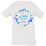 "Bible Verse Infant Jersey T-Shirt - ""Psalm 61:2"" Design 19 - Meditate Healing Christian Store"