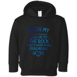 "Bible Verses Toddler Fleece Hoodie - ""Psalm 61:2"" Design 17 - Meditate Healing Christian Store"