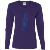 "Bible Verse Ladies' Cotton Long Sleeve T-Shirt - ""Psalm 61:2"" Design 2 - Meditate Healing Christian Store"