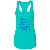 "Bible Verses Ladies Ideal Racerback Tank - ""Psalm 61:2"" Design 6 - Meditate Healing Christian Store"