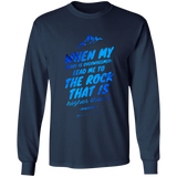 "Bible Verse Long Sleeve Ultra Cotton T-Shirt - ""Psalm 61-2"" Design 14 - Meditate Healing Christian Store"