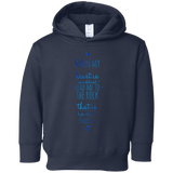 "Bible Verses Toddler Fleece Hoodie - ""Psalm 61:2"" Design 3 - Meditate Healing Christian Store"
