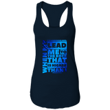 "Bible Verses Ladies Ideal Racerback Tank - ""Psalm 61:2"" Design 20 - Meditate Healing Christian Store"