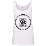 "Bible Verses Ladies' 100% Ringspun Cotton Tank Top - ""Psalm 119:105"" Design 8 (Black Font) - Meditate Healing Christian Store"